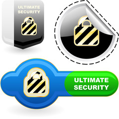Ultimate secutity. Vector set.