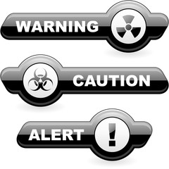 Warning buttons.