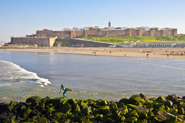 Panoramic view of Rabat