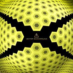 Abstract hexagon mosaic.