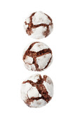 Chocolate crinkles in a row poster