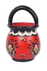 Traditional painted terracottra milk jar