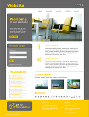 "Website Template ""Yellow Furniture"""