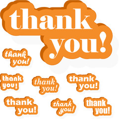 THANK YOU! Vector collection.