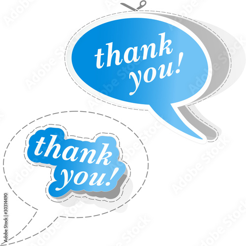 THANK YOU. Vector illustration.