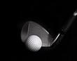 Golf Club hitting Golf Ball