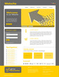 "Website Template ""Yellow Arrow"" Vektoren"