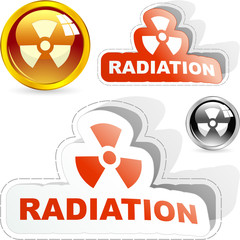 Radioactive icon. Vector set.