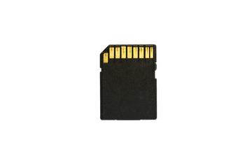 SD Card isolate om white