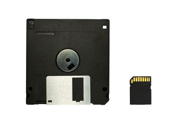 floppy disk and SD Card