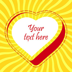 Love message. Vector illustration.