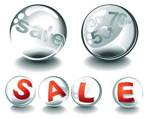 Sale glass spheres