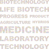 BIOTECHNOLOGY. Vector illustration with association terms. poster