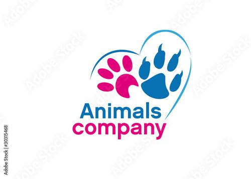 logo empreintes de chat et chien