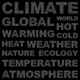 CLIMATE. Vector word collection. Wordcloud illustration. poster