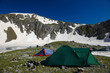 Bivvy wih tents  in the mountains