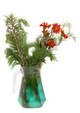 vase with wilted flowers poster
