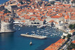 Croatia, Dubrovnik. Top view of the port in the old town