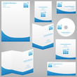 Stationery print templates. Business communication.