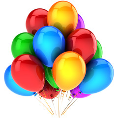Party balloons colorful and beautiful. Celebration decoration