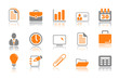 Office and business icons - orange series