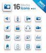 White Squares - Media Icons 01