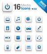 White Squares - Media Icons 02