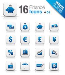White Squares - Finance icons 01