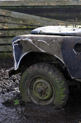 4x4 with flat tire
