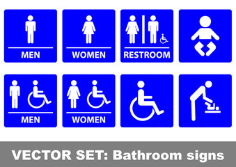 Vector set bathroom signs
