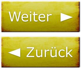 Weiter & Zurück Button - Gelb (Used Look)