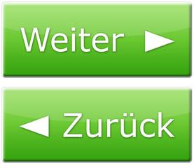 Weiter & Zurück Button - Grün