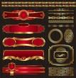 Vector vintage golden luxury ornate frames & decor elements