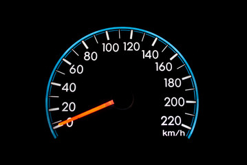 Speedometer isolate on the black.