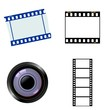 Set of photographic objects. Vector