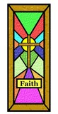easter faith stain glass window poster