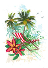 Tropical floral background