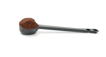 Coffee in  plastic  spoon