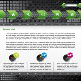 Technology web template design with gadgets