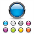 Colored 3d Glossy Buttons