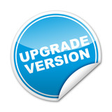 Pegatina UPGRADE VERSION con reborde poster
