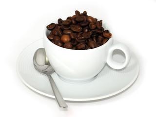 Kaffee Bohnen im Häferl