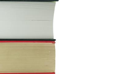 Libri su sfondo bianco