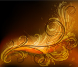 Abstract fiery background - eps10