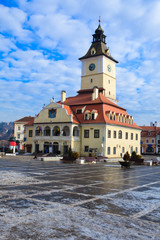 Council Square in Brasov, Romania - wintertime
