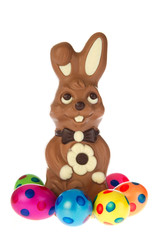 Easter hare from chocolate