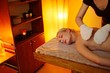Beautiful woman having a garshan massage