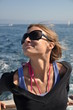 bronzage dans un bateau