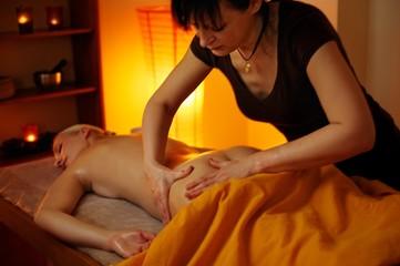 Beautiful woman having a massage