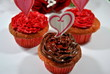 Three Heart Cupcakes